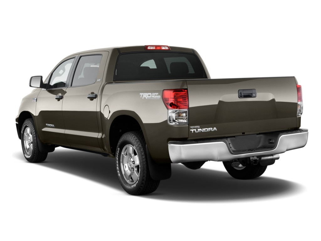 2010 Toyota Tundra CrewMax 5.7L V8 6-Spd AT Grade (Natl) Angular Rear Exterior View
