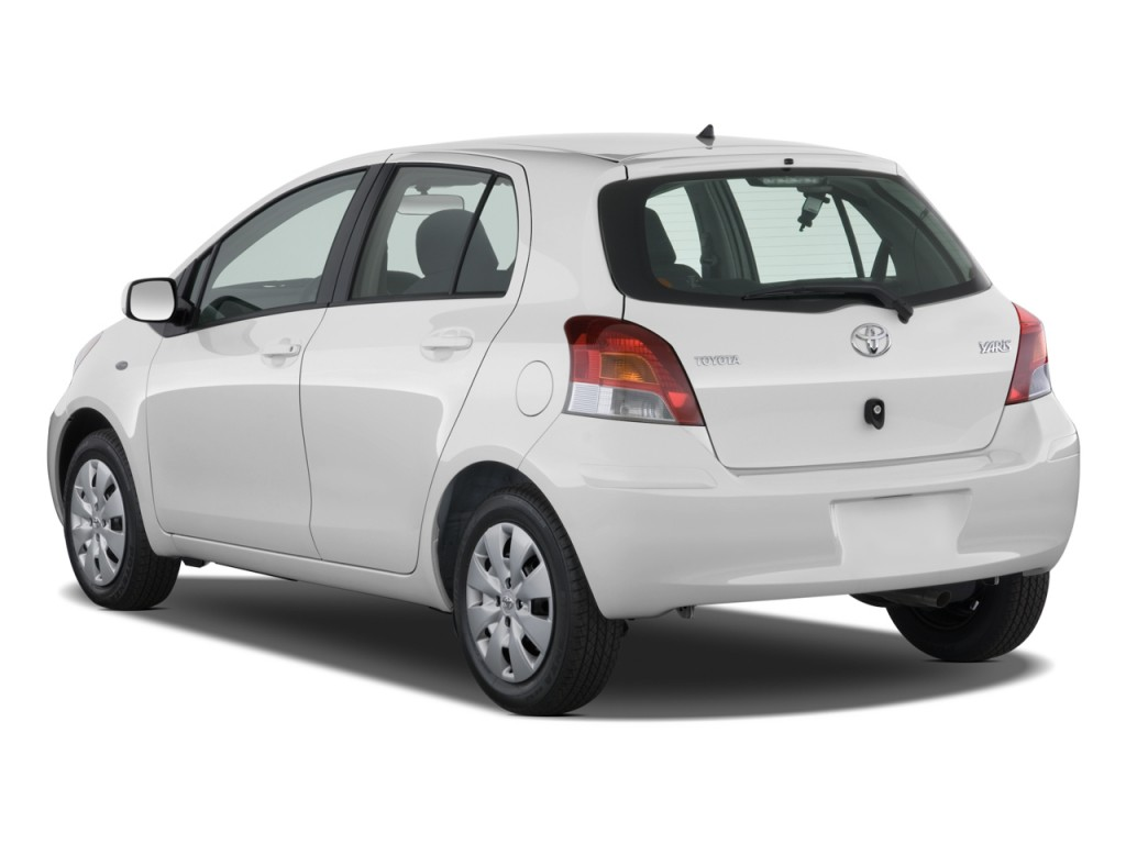 Image 2010 Toyota Yaris 5dr Lb Auto Natl Angular Rear Exterior View Size 1024 X 768 Type