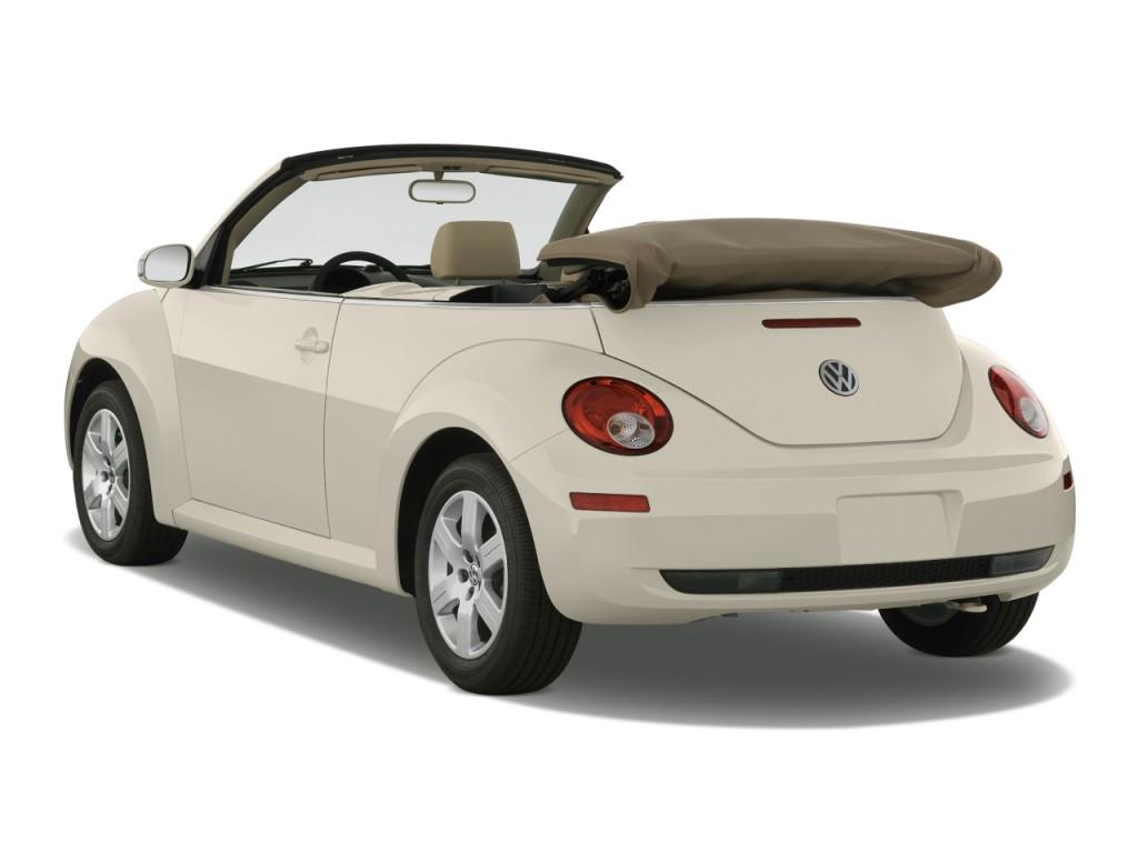 Image 2010 Volkswagen New Beetle Convertible 2 Door Auto Angular Rear Exterior View Size 1024