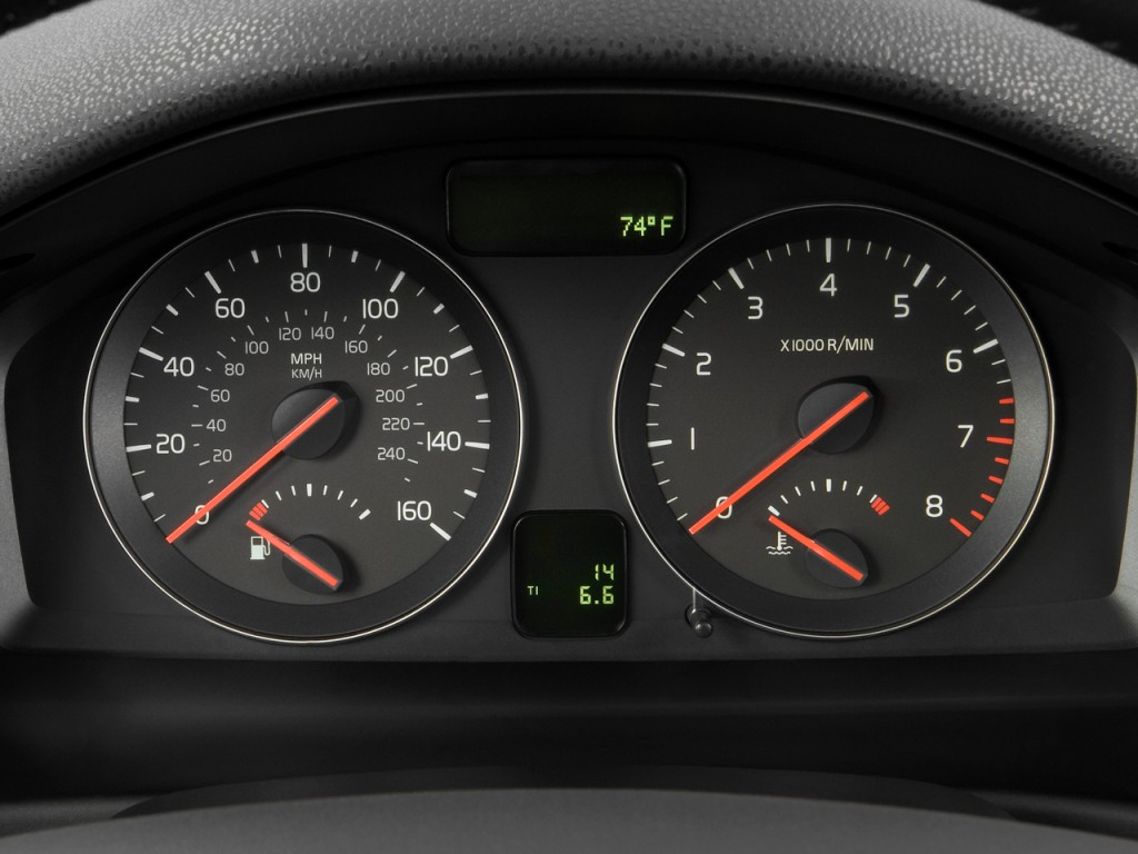 Image: 2010 Volvo V50 4-door Wagon Auto FWD Instrument Cluster, size: 1024 x 768, type: gif ...