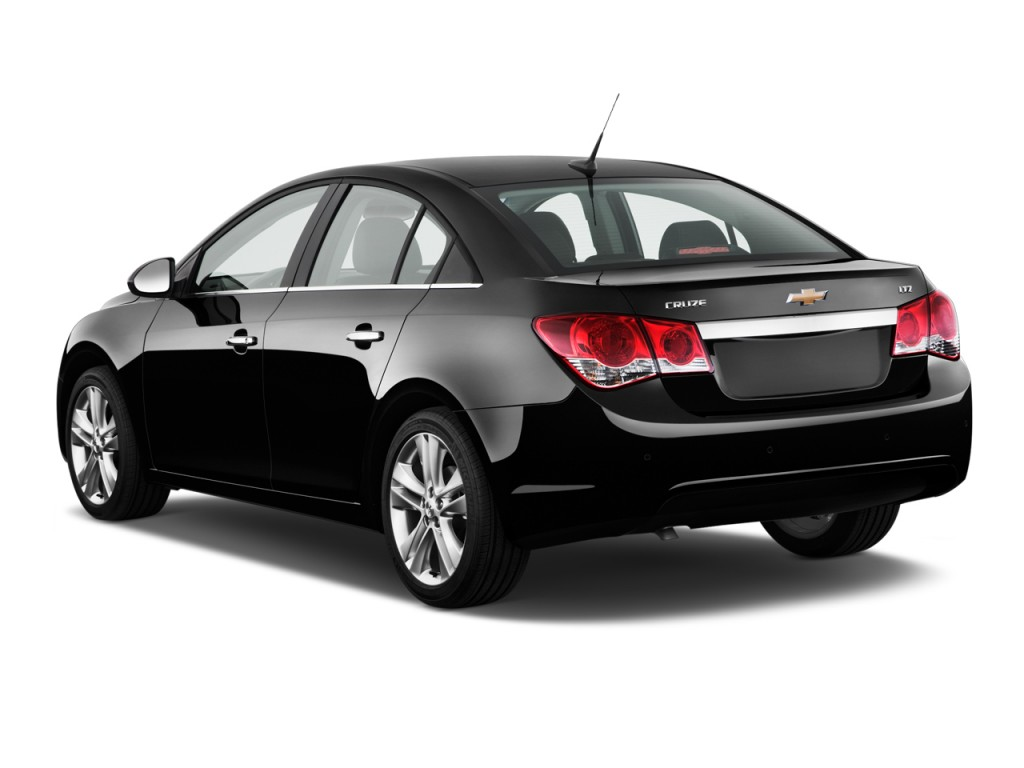 Image: 2011 Chevrolet Cruze 4-door Sedan LTZ Angular Rear ...