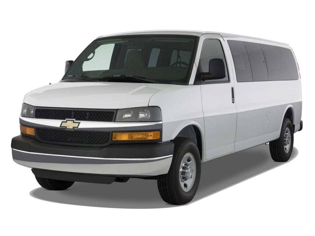 "2011 Chevrolet Express Passenger RWD 2500 135"" 1LT Angular Front Exterior View"