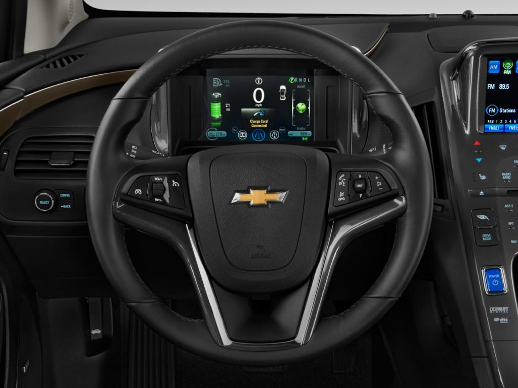 Chevy Cruze Diesel For Sale >> Image: 2011 Chevrolet Volt 5dr HB Steering Wheel, size ...