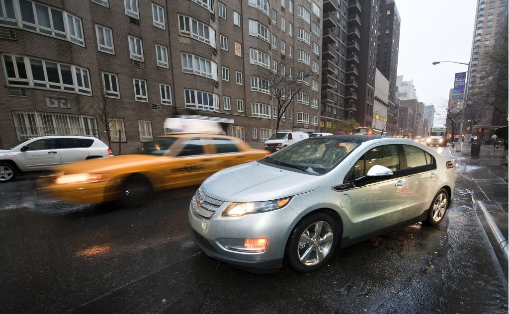 2011 Chevrolet Volt in New York City, March 2010