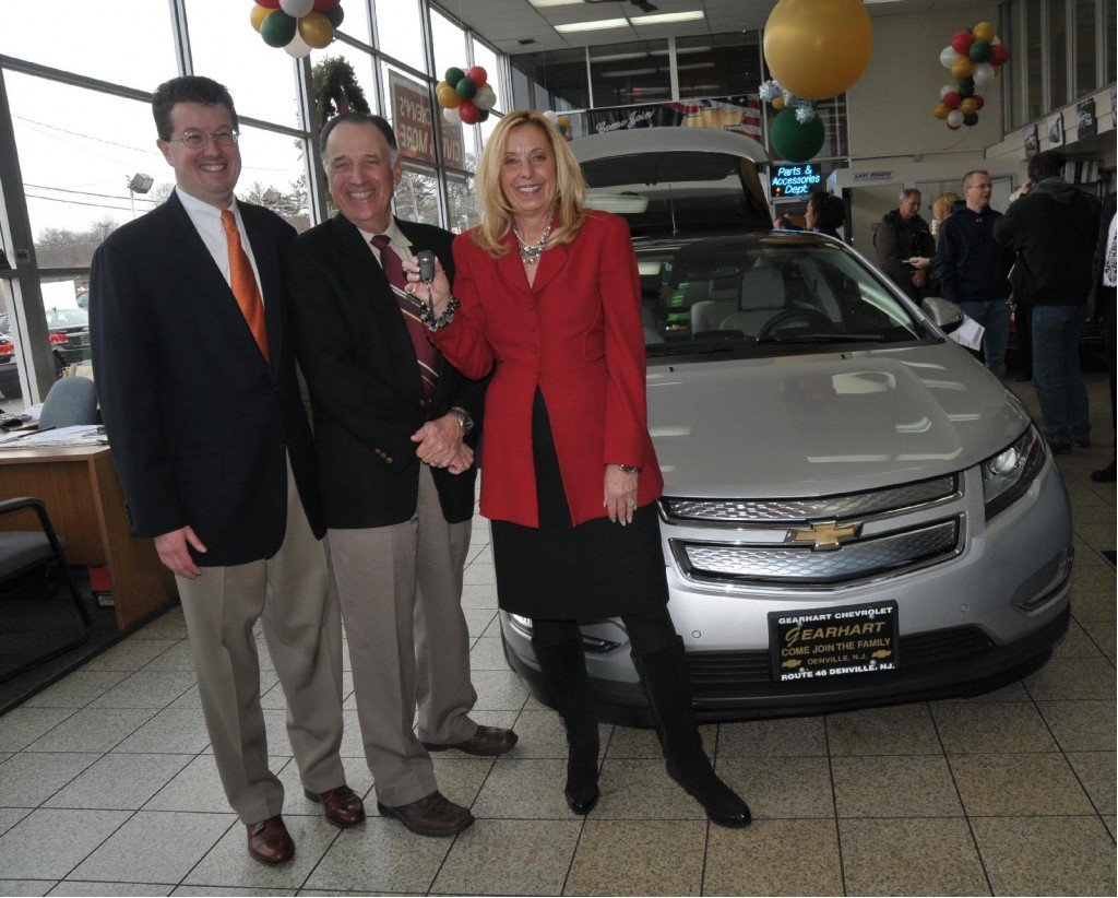 First 2011 Chevrolet Volt delivered to retail buyer Jeffrey Kaffee, in Denville, NJ, December 2010