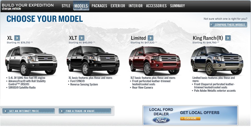 2011 Ford Expedition screen shots