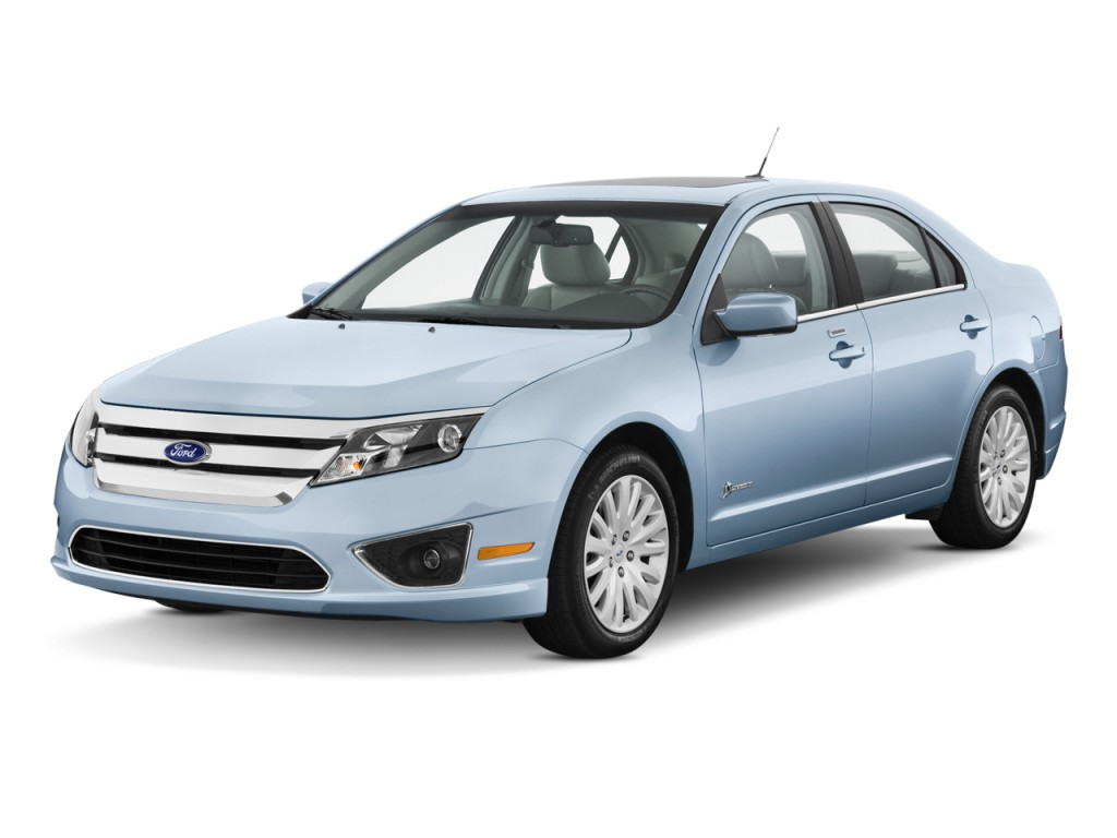 2011 Ford Fusion 4-door Sedan Hybrid FWD Angular Front Exterior View