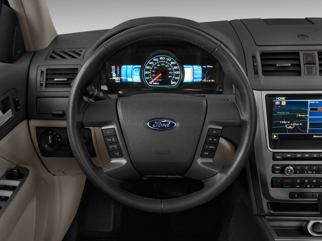 image 2011 ford fusion 4 door sedan hybrid fwd steering wheel size 1024 x 768 type gif. Black Bedroom Furniture Sets. Home Design Ideas