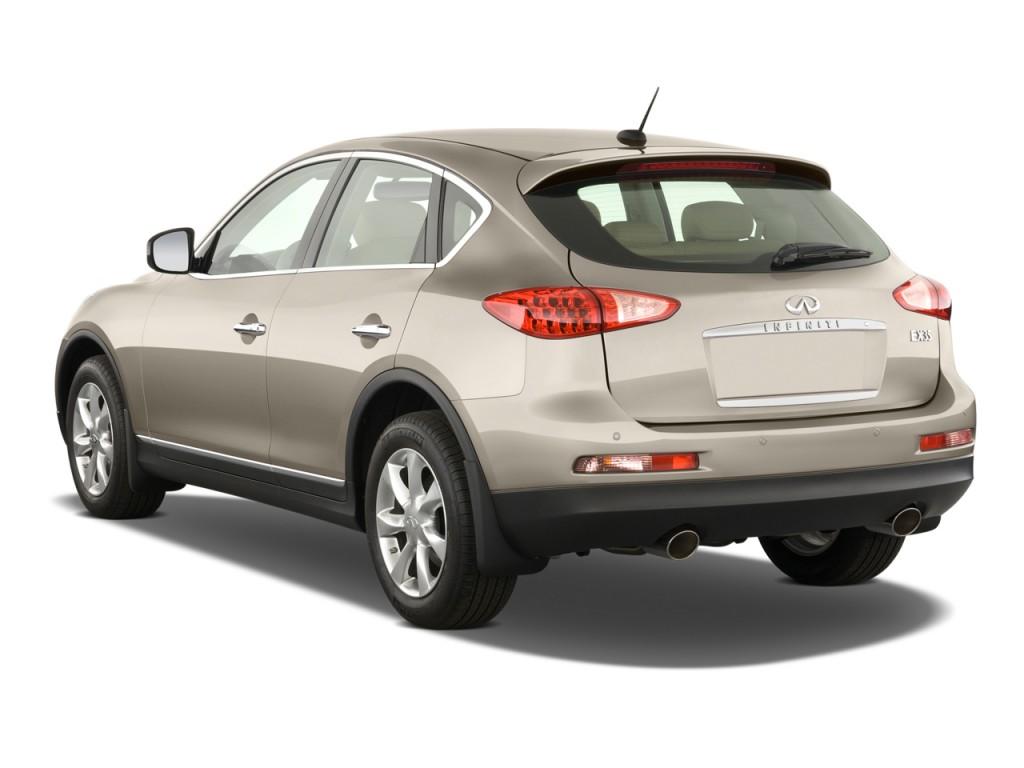 2011 infiniti ex35 rwd 4 door journey angular rear exterior view