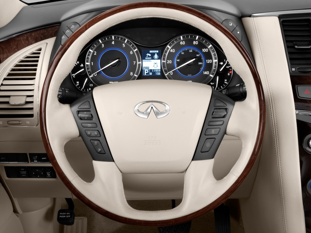 Image: 2011 Infiniti QX56 4WD 4-door 7-passenger Steering ...