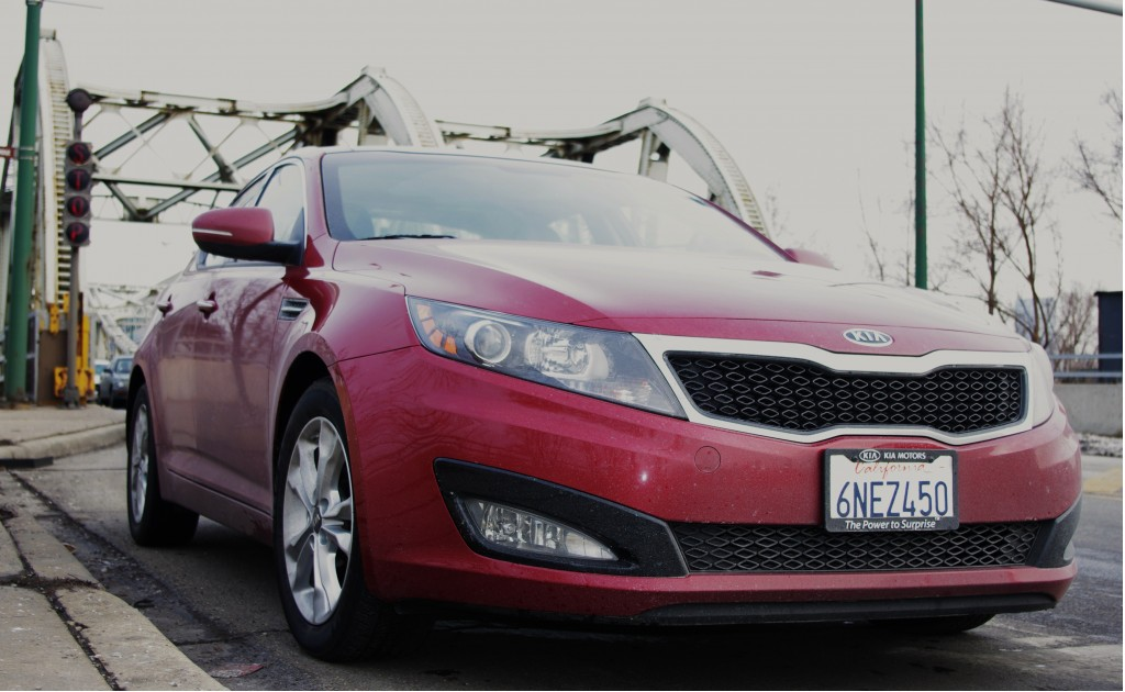 2011 Kia Optima, Chicago's vintage metal bridge