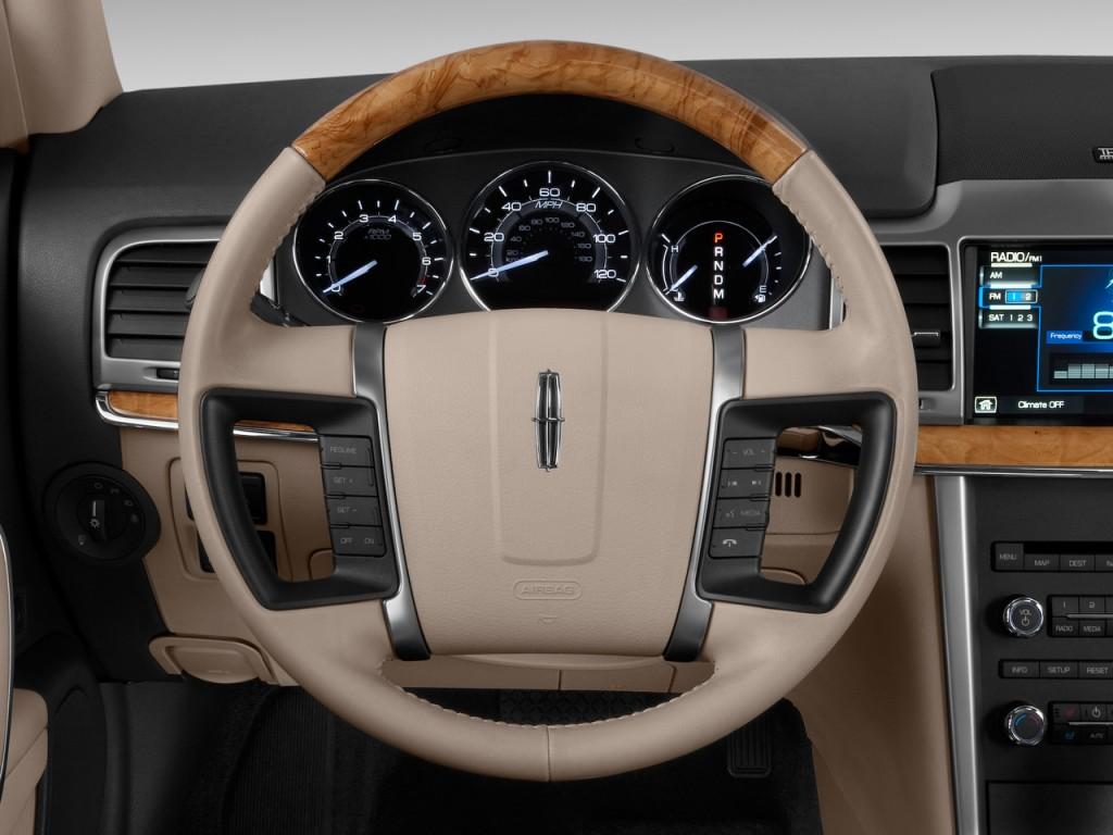 Image: 2011 Lincoln MKZ 4-door Sedan AWD Steering Wheel ...