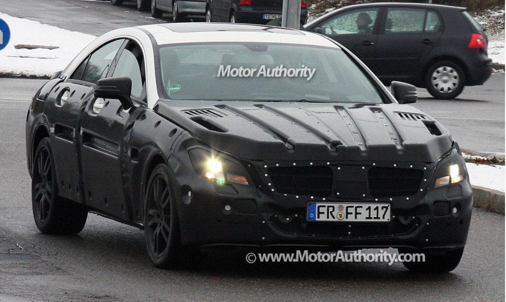2011 mercedes benz cls prototype spy shots december 002