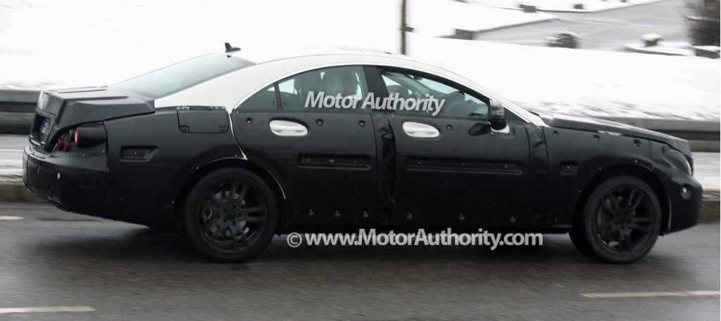 2011 mercedes benz cls prototype spy shots december 004