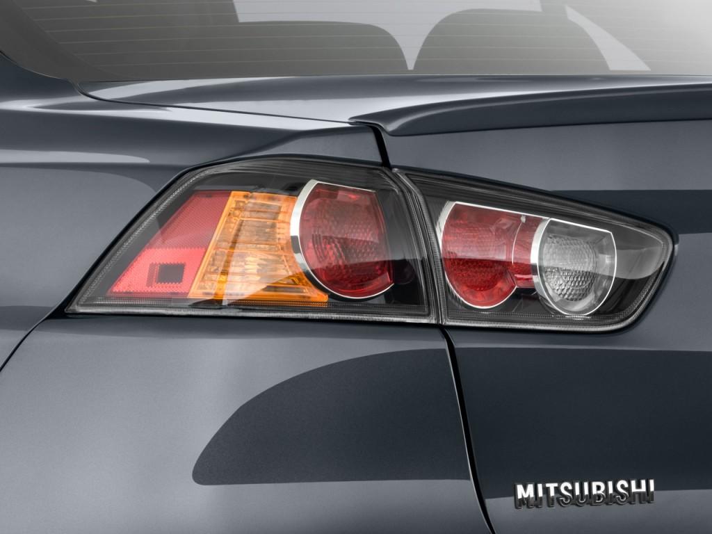 Image: 2011 Mitsubishi Lancer 4-door Sedan TC-SST Evolution MR FWD Tail Light, size: 1024 x 768 ...