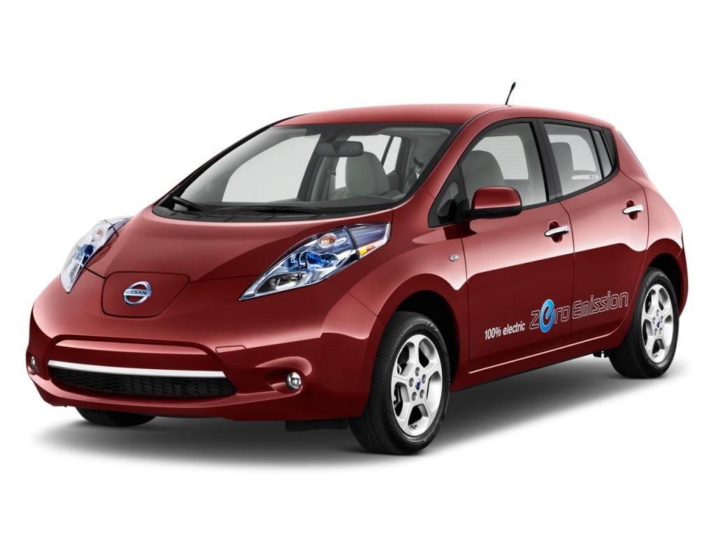 2011 Nissan Leaf 4-door HB SL Angular Front Exterior View