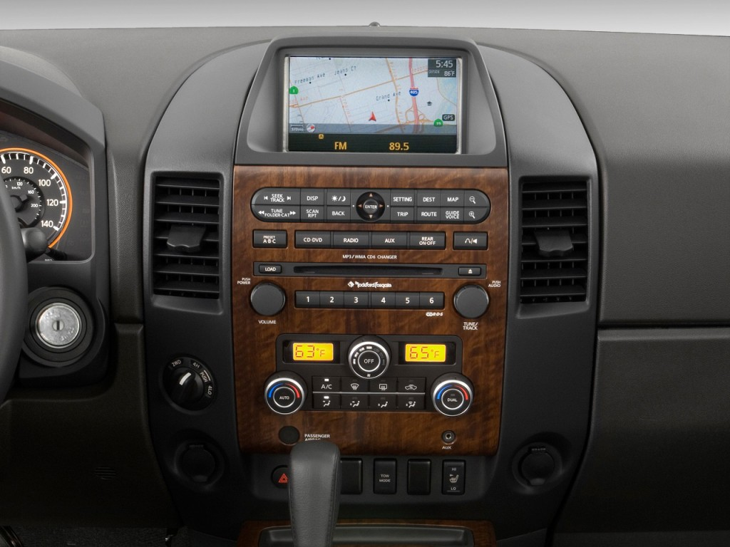 image 2011 nissan titan 2wd crew cab swb sl instrument. Black Bedroom Furniture Sets. Home Design Ideas