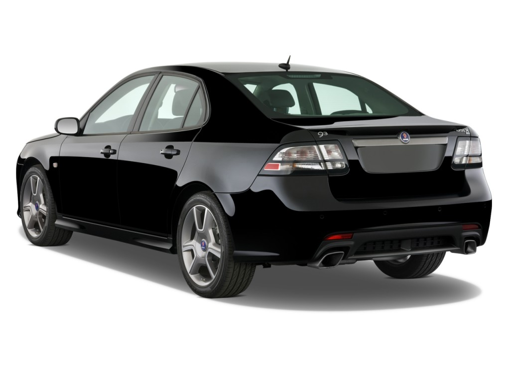 image 2011 saab 9 3 4 door sedan aero xwd angular rear. Black Bedroom Furniture Sets. Home Design Ideas