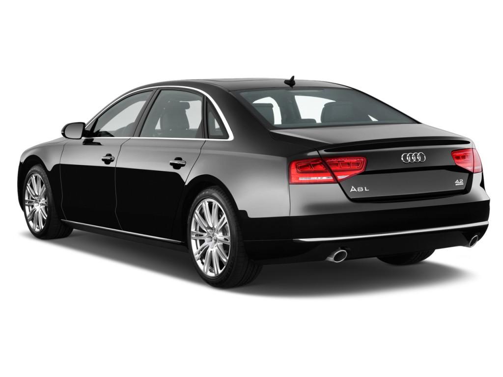 Image 2012 audi a8 l 4 door sedan angular rear exterior for Audi a8 exterior 2017