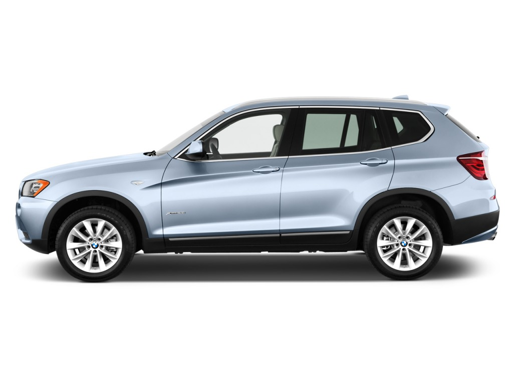 Image: 2012 BMW X3 AWD 4-door 28i Side Exterior View, size ...