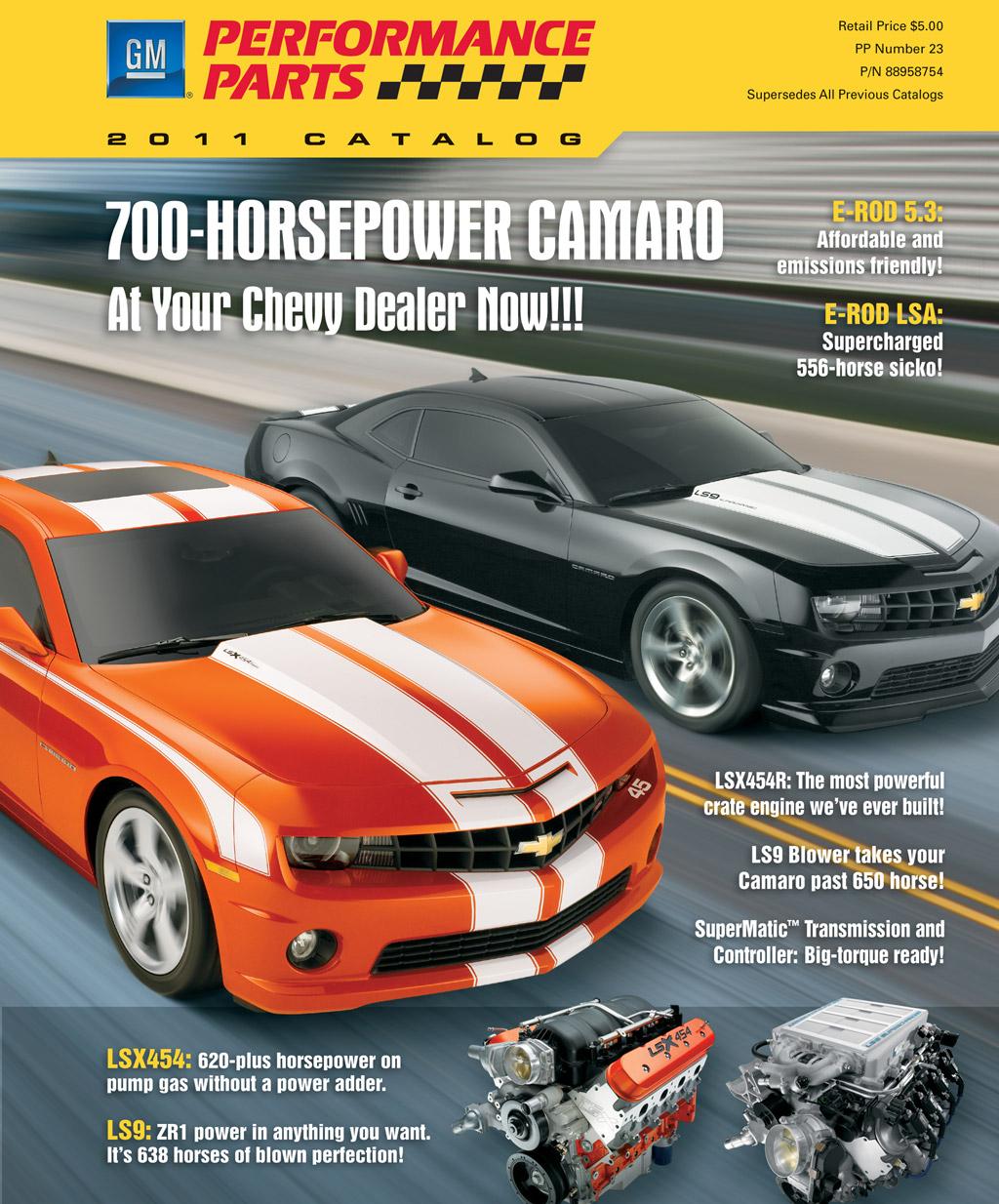 GM Performance Parts Updates 2011 Catalog, Lists 700-HP