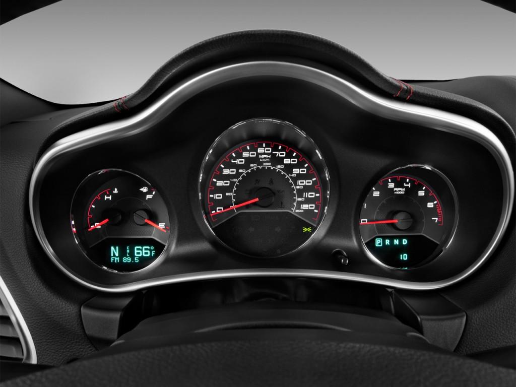 Image: 2012 Dodge Avenger 4-door Sedan SXT Instrument ...