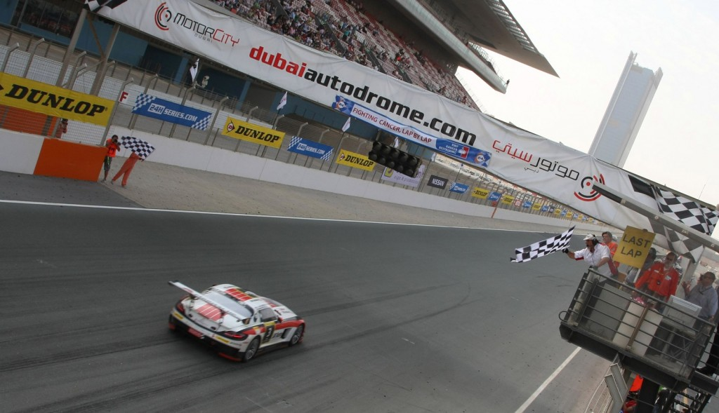 2012 Dubai 24 Hours finish - Image courtesy of 24H Series Live