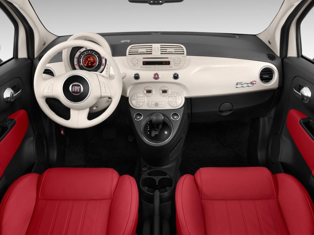 Image 2012 Fiat 500 2 Door Convertible Lounge Dashboard