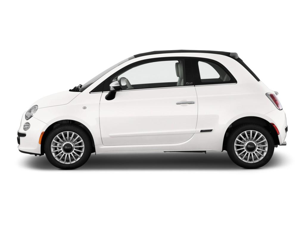 Image 2012 Fiat 500 2 Door Convertible Lounge Side