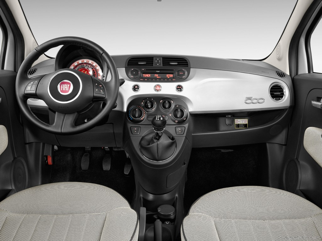 Image 2012 Fiat 500 2 Door Hb Lounge Dashboard Size
