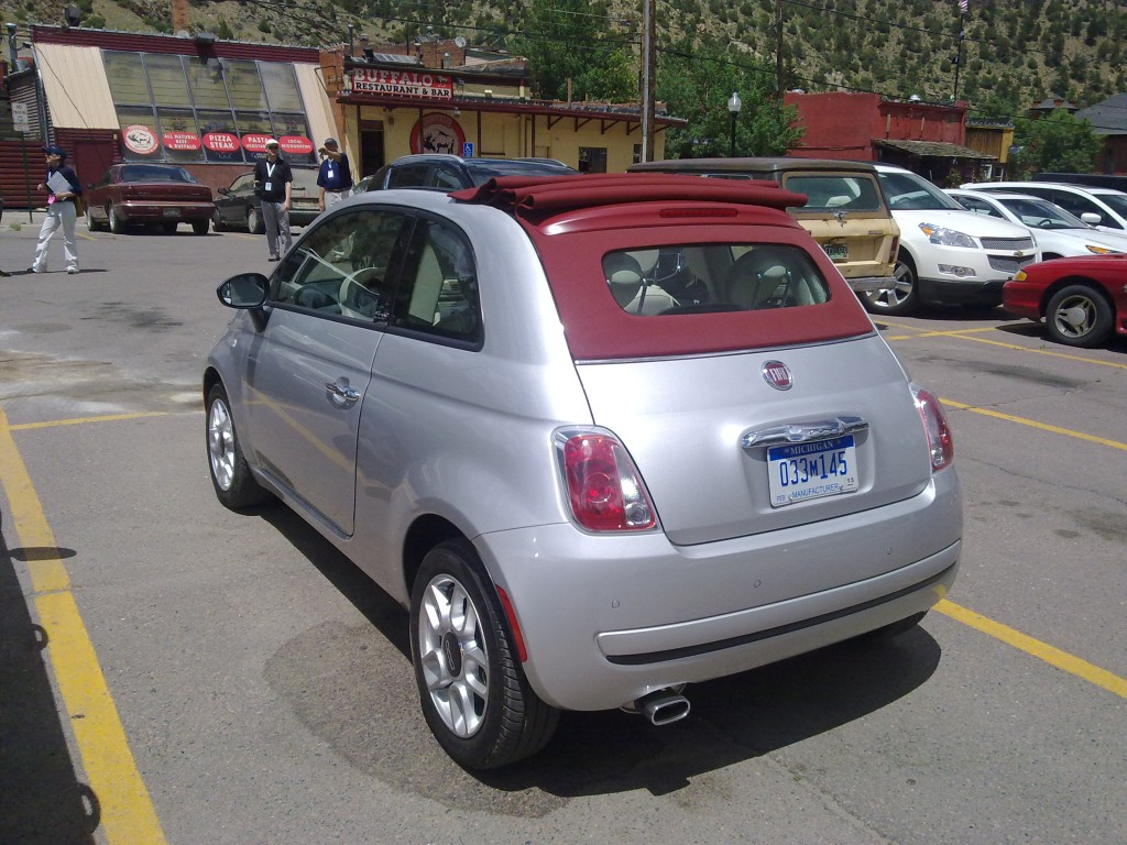 2012 Fiat 500C at the Buffalo in Idaho Springs, Colorado
