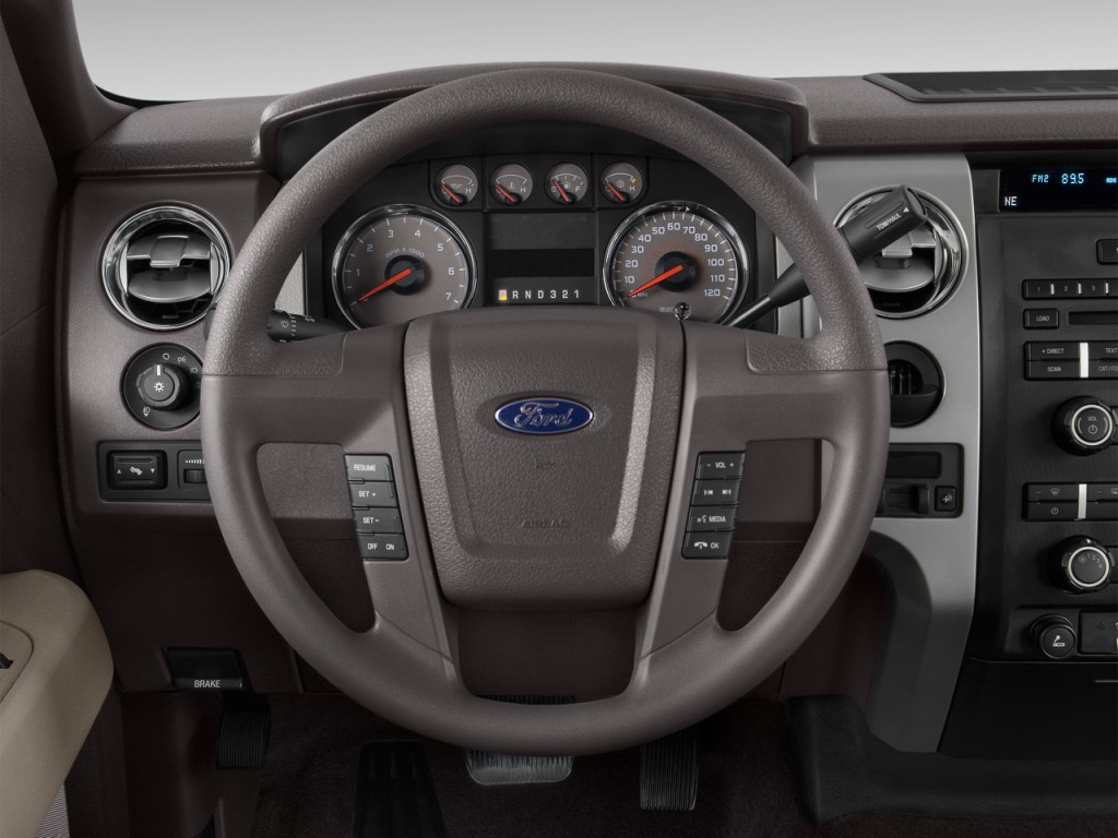 """Image: 2012 Ford F-150 2WD SuperCrew 145"""" XLT Steering ..."""