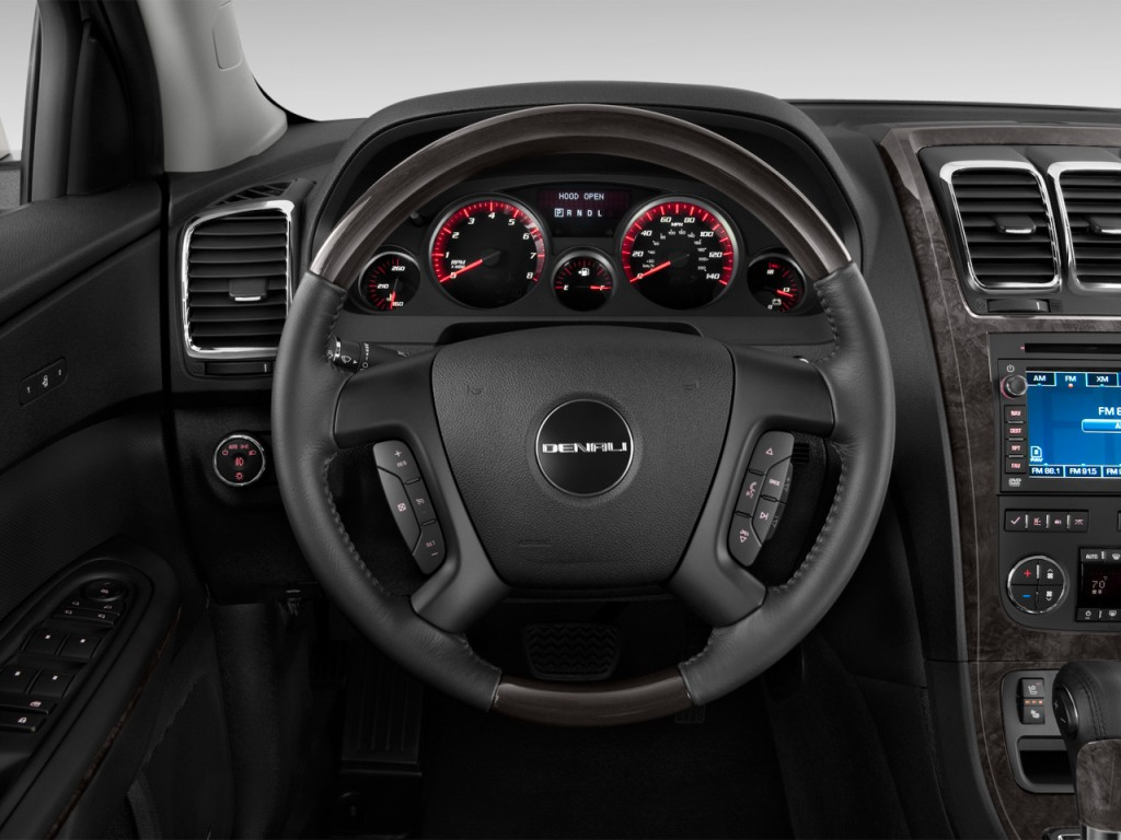 image 2012 gmc acadia fwd 4 door denali steering wheel. Black Bedroom Furniture Sets. Home Design Ideas