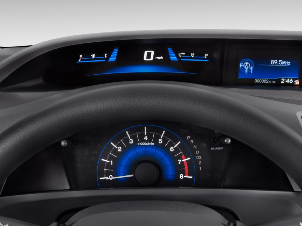 Image: 2012 Honda Civic Sedan 4-door Auto LX Instrument ...