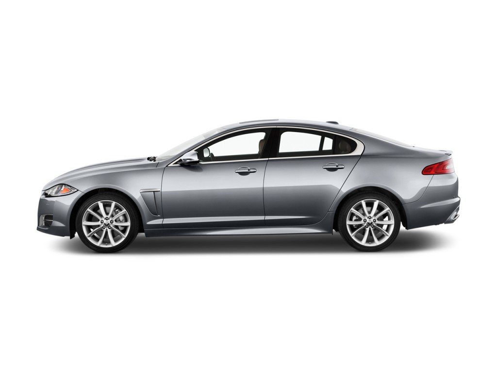 2012 Jaguar XF 4-door Sedan Portfolio Side Exterior View