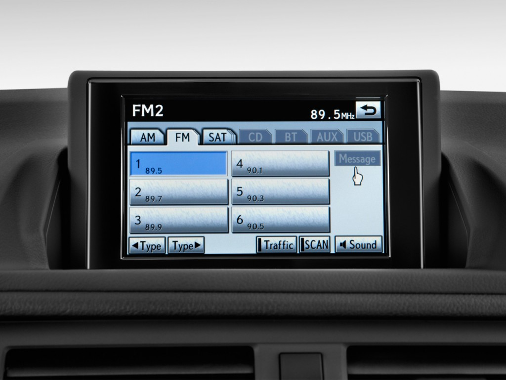 Image: 2012 Lexus CT 200h FWD 4-door Hybrid Audio System ...