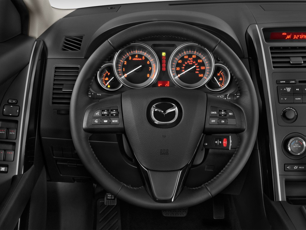 image 2012 mazda cx 9 fwd 4 door sport steering wheel. Black Bedroom Furniture Sets. Home Design Ideas