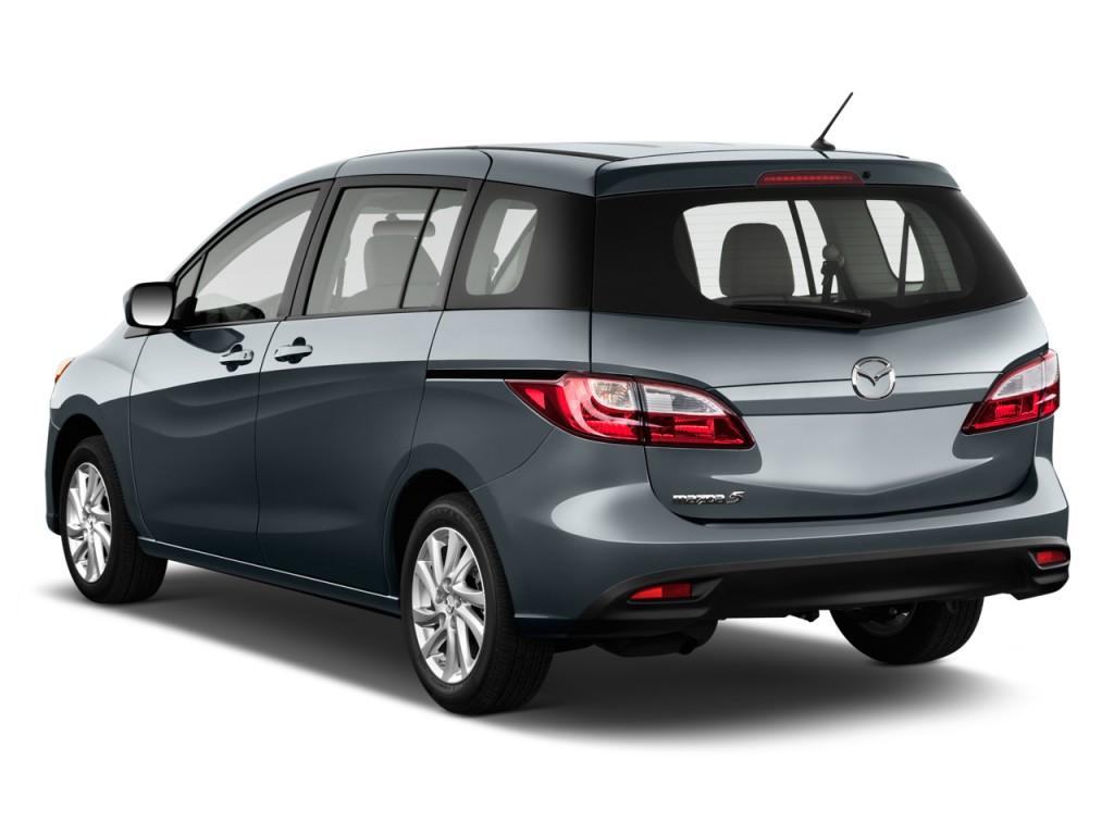 Image 2012 Mazda Mazda5 4 Door Wagon Auto Sport Angular Rear Exterior View Size 1024 X 768