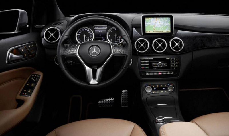 2012 mercedes benz b class interior revealed. Black Bedroom Furniture Sets. Home Design Ideas