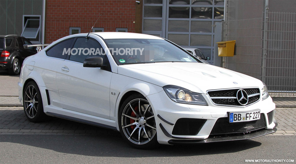 Mercedes Benz C63 Amg Coupe Black Series Spied With Track