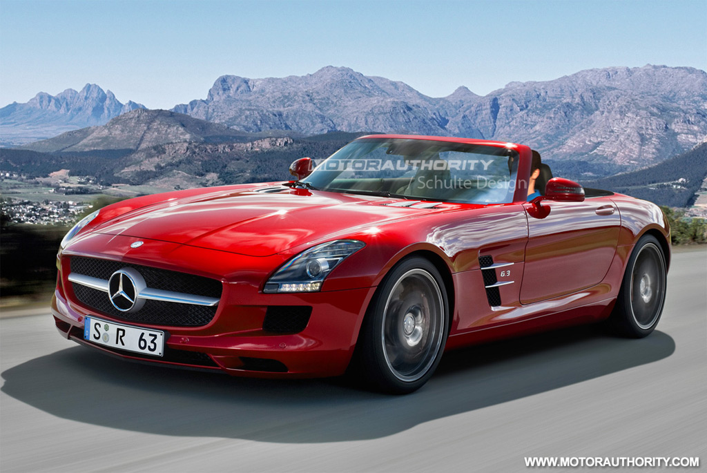 rendered 2012 mercedes benz sls amg roadster. Black Bedroom Furniture Sets. Home Design Ideas