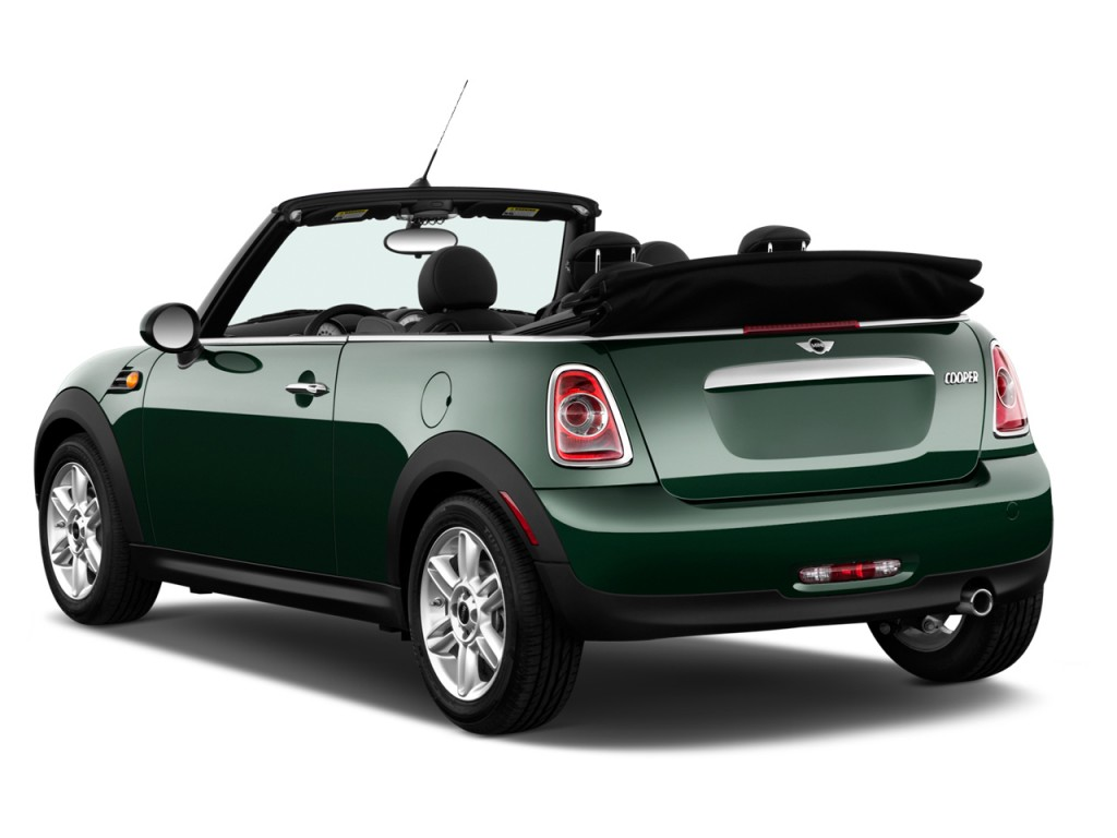 Image: 2012 MINI Cooper Convertible 2-door Angular Rear Exterior View, size: 1024 x 768, type ...