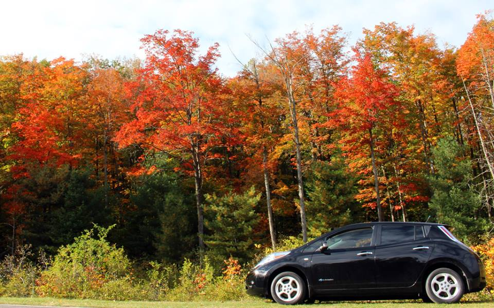 2012 Nissan Leaf in the autumn outside Ottawa, Ontario, Canada [photo: Ricardo Borba]