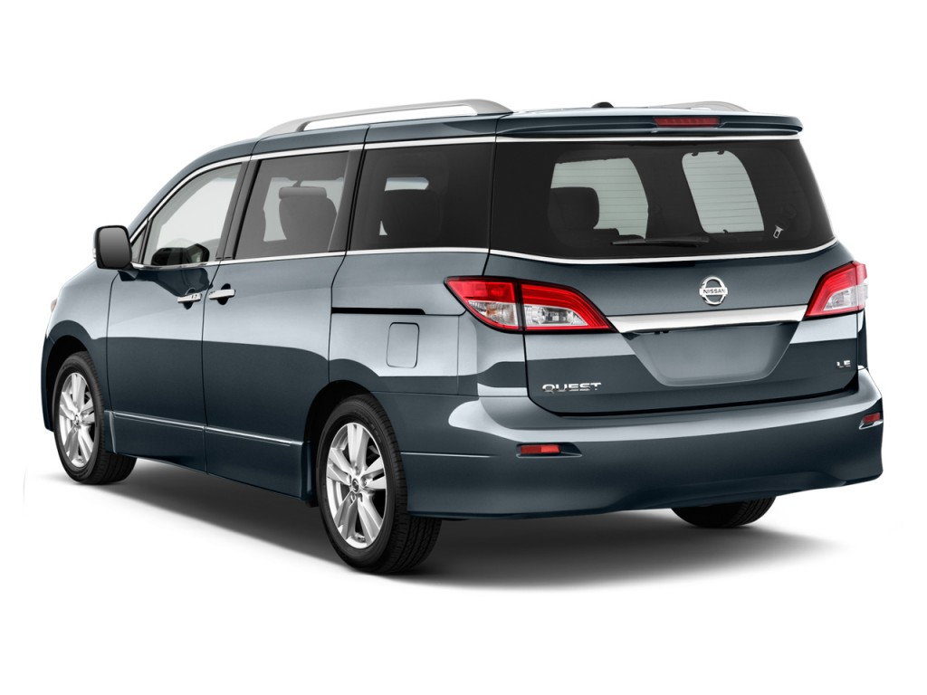 2012 Nissan Quest 4-door LE Angular Rear Exterior View