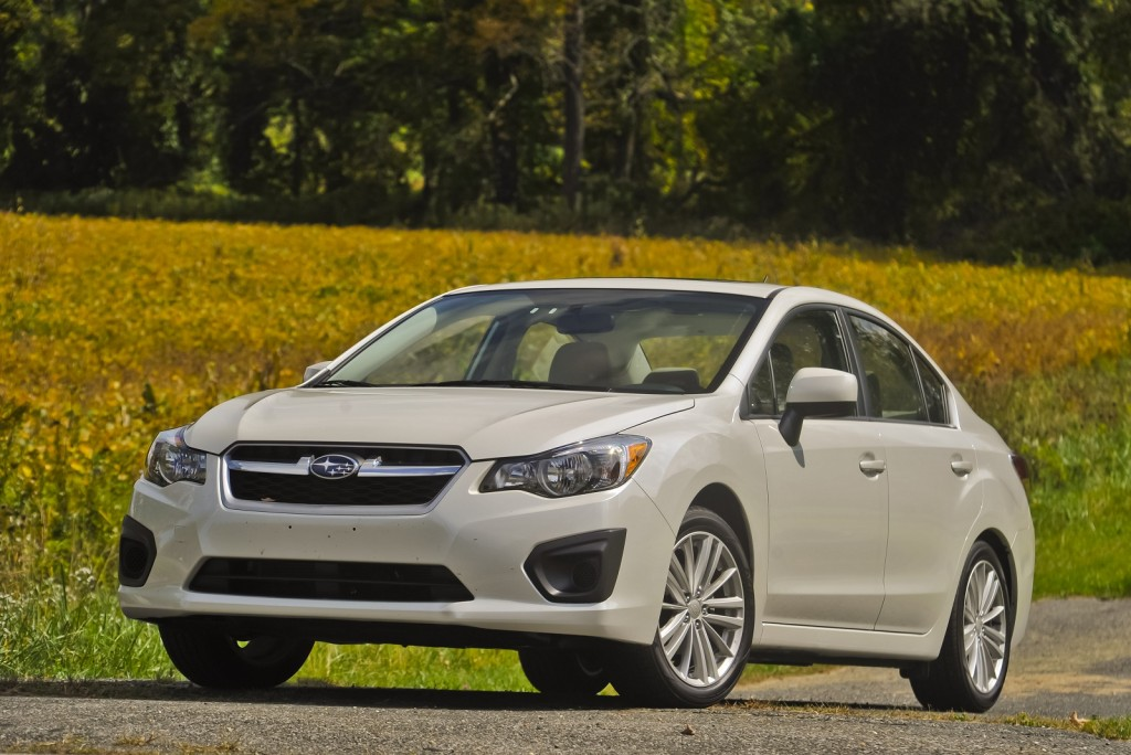 2012 Subaru Impreza four-door sedan, Connecticut, Sept 2011