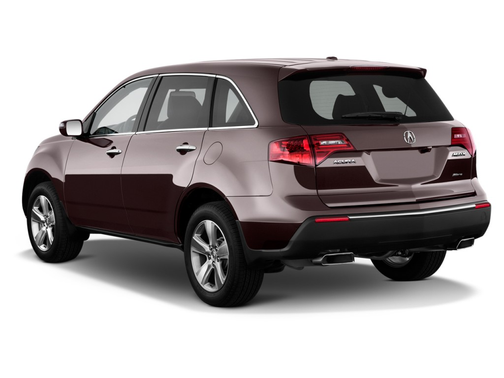 Image: 2013 Acura MDX AWD 4-door Tech Pkg Angular Rear Exterior View, size: 1024 x 768, type ...