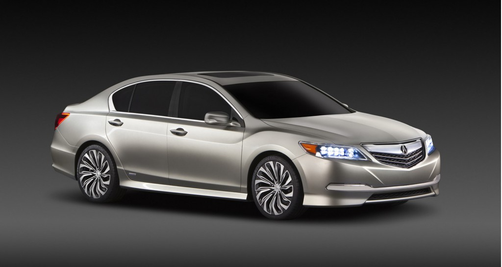 2014 Acura RLX Concept Previews Upcoming Hybrid Sedan