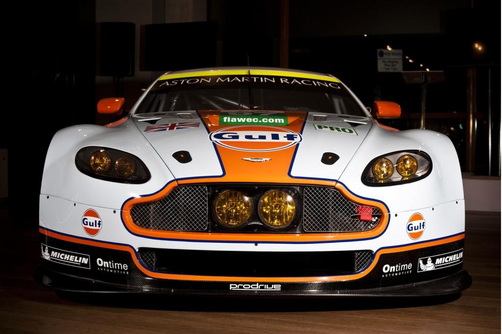 2013 Aston Martin Vantage GTE race car launch