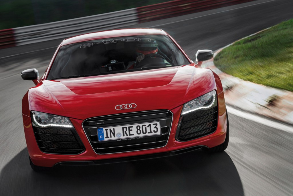 2013 Audi R8 e-tron with 8:09.099 Nürburgring lap time