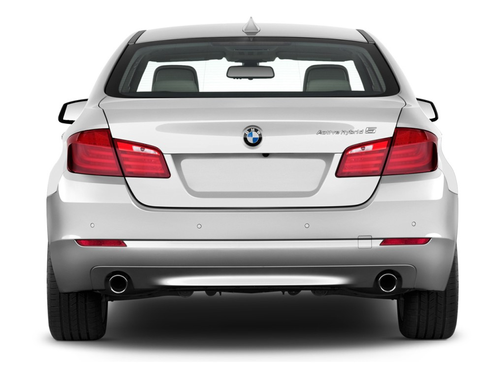 image 2013 bmw 5 series 4 door sedan activehybrid 5 rwd rear exterior. Black Bedroom Furniture Sets. Home Design Ideas